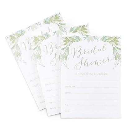 Hortense B Hewitt 55734 Greenery Tarjetas De Invitaciones
