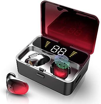 Auriculares Bluetooth, Auriculares Inalámbricos Bluetooth 5.0 2000mAh 100H Playtime TWS In Ear Auriculares Deporte IPX7 Impermeable Hi Fi Estéreo con