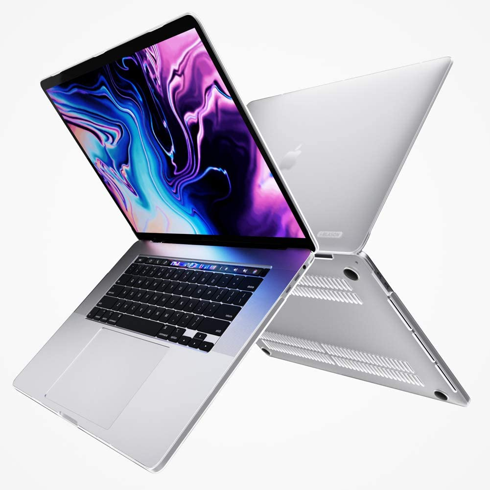 """i-Blason Halo Case for MacBook Pro 16 inch (2019 Release), Ultra Slim Translucent Hard Case Protective Clear Cover for New MacBook Pro 16"""" with Touch Bar and Touch ID (Frost/Clear)"""