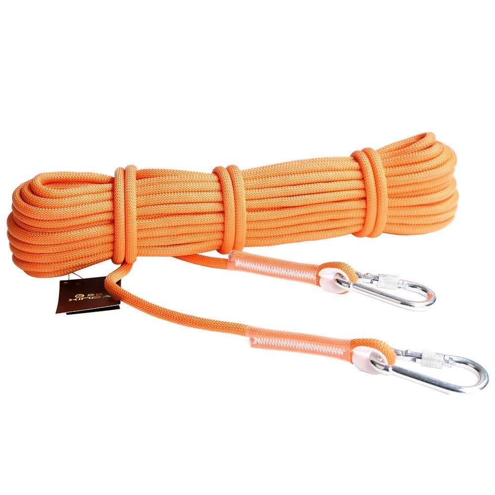 deanyi - Cuerda de Seguridad para Deportes al Aire Libre (12 kN, 9,5 mm, 10 m), Color Naranja