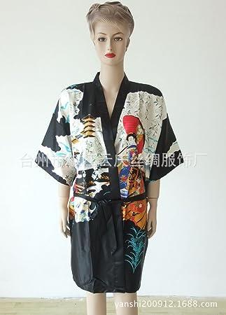 Wanglele Der Kimono Seide Pyjama Kleid Satin Kleid Flower Lace Kleid ...