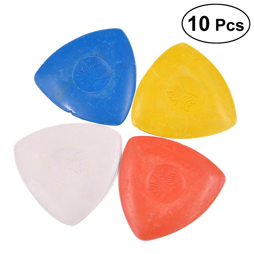 ULTNICE 10pcs Tailor's Chalk for Sewing Triangle Fabric Marking Chalk Dressmakers