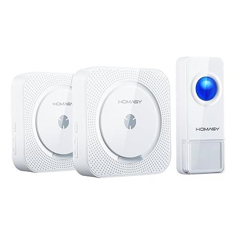 campanello senza fili da esterno  Campanelli Senza Fili da Esterno VICTSING 2 Pack Campanello Wireless ...