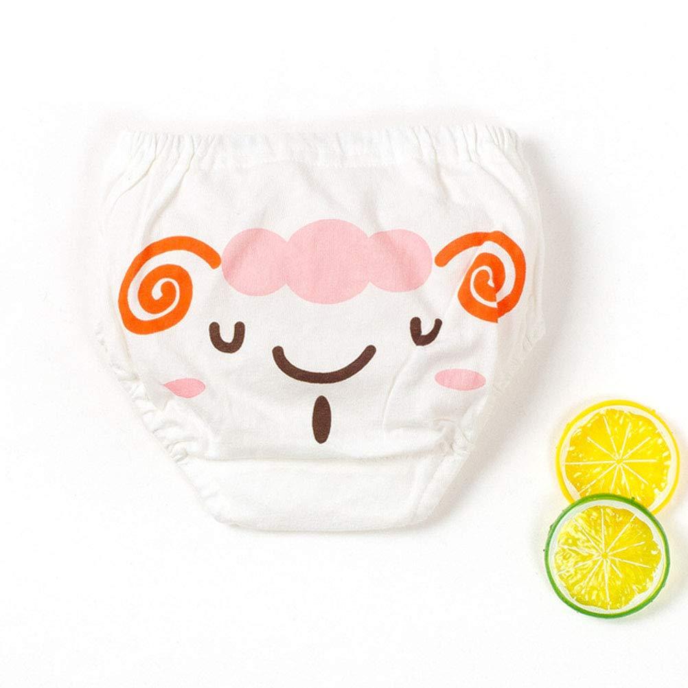 YeahiBaby 5pcs Baby Potty Training Pantalon Toddler Coton Briefs Cartoon Slip Couche Nappy Underwear Taille XL