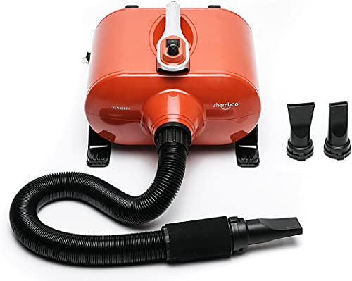 Shernbao High-Velocity Professional Dog Pet Grooming Hair Force Dryer Blower 6.0HP (DHD-2400F)