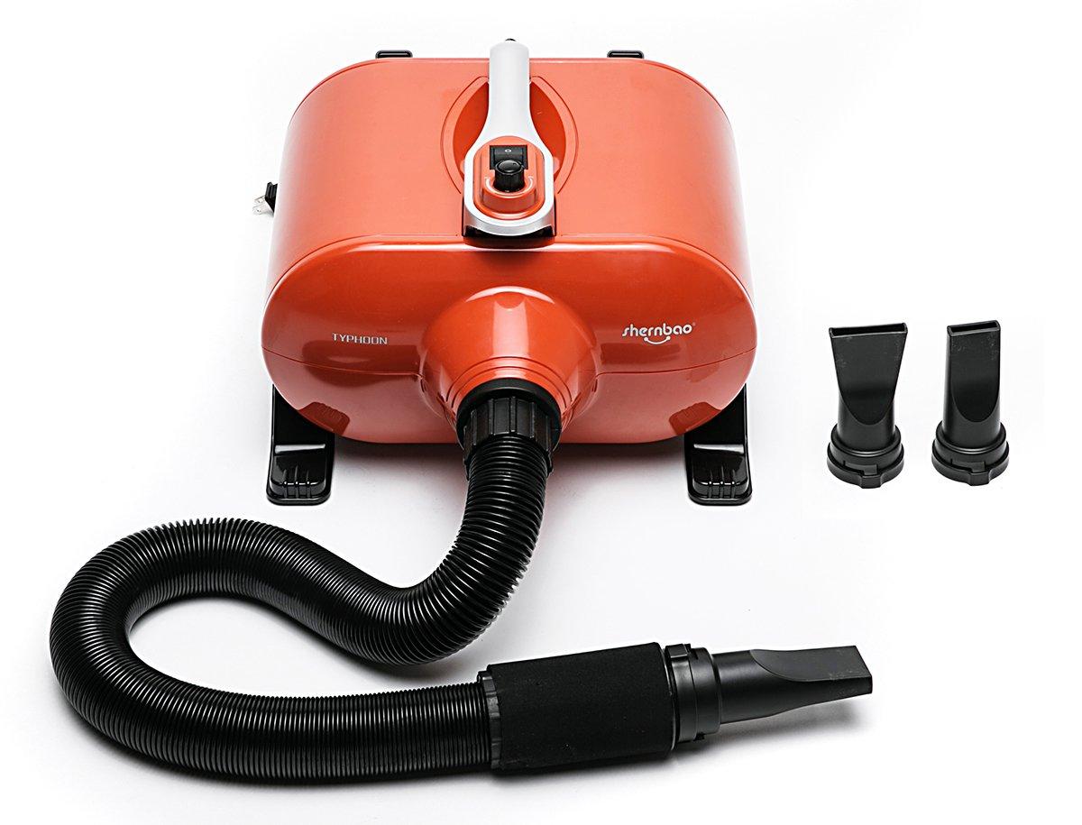 shernbao High Velocity Professional Dog Pet Grooming Hair Force Dryer Blower 6.0HP (Orange) by shernbao (Image #1)