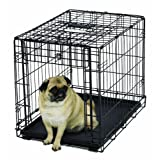 MidWest Homes for Pets Ovation - Jaula para Perros, Puerta única, Negro, 24-Inch w/Divider