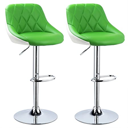 Woltu #377 2 X Faux Leather Bar Stools Kitchen Stools Breakfast Barstools  With Backs Two
