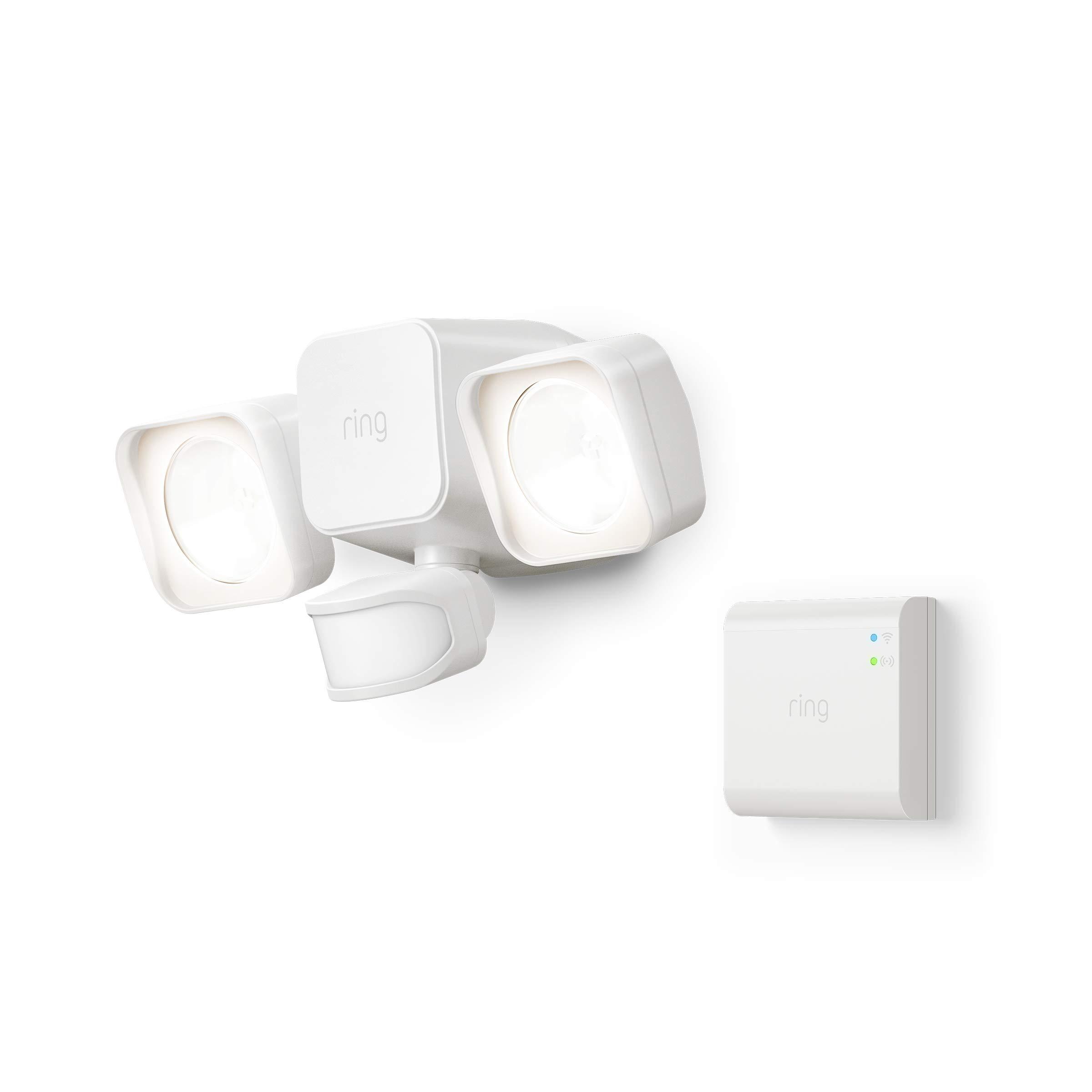 Introducing Ring Smart Lighting -  Floodlight, Battery - White (Starter Kit)