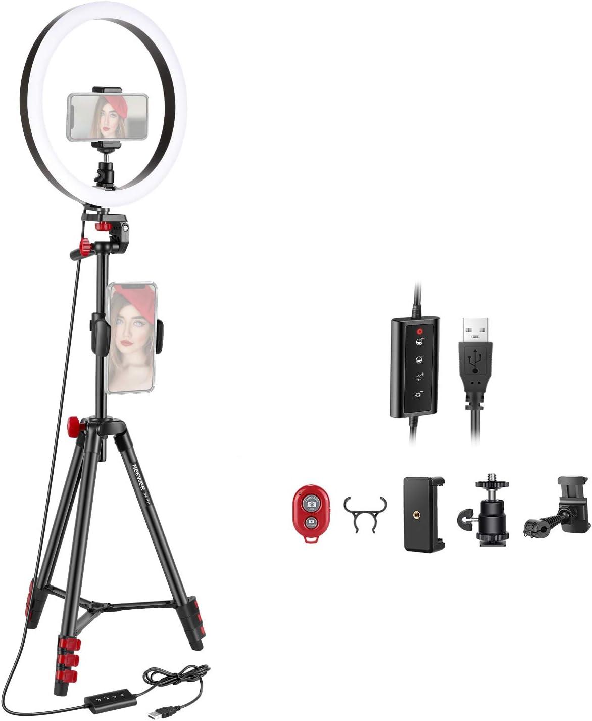 Neewer Led Ringlicht Mit Stativ 25 4 Cm Dimmbar Kamera
