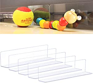 Zodight Toy Blockers for Furniture, Clear Blocking Board Under Furniture, Pet Baffle Board, Strong Adhesive Baffle, Adjustable Gap Bumper for Sofa, Bed (5 Pack/3.2 Inch)