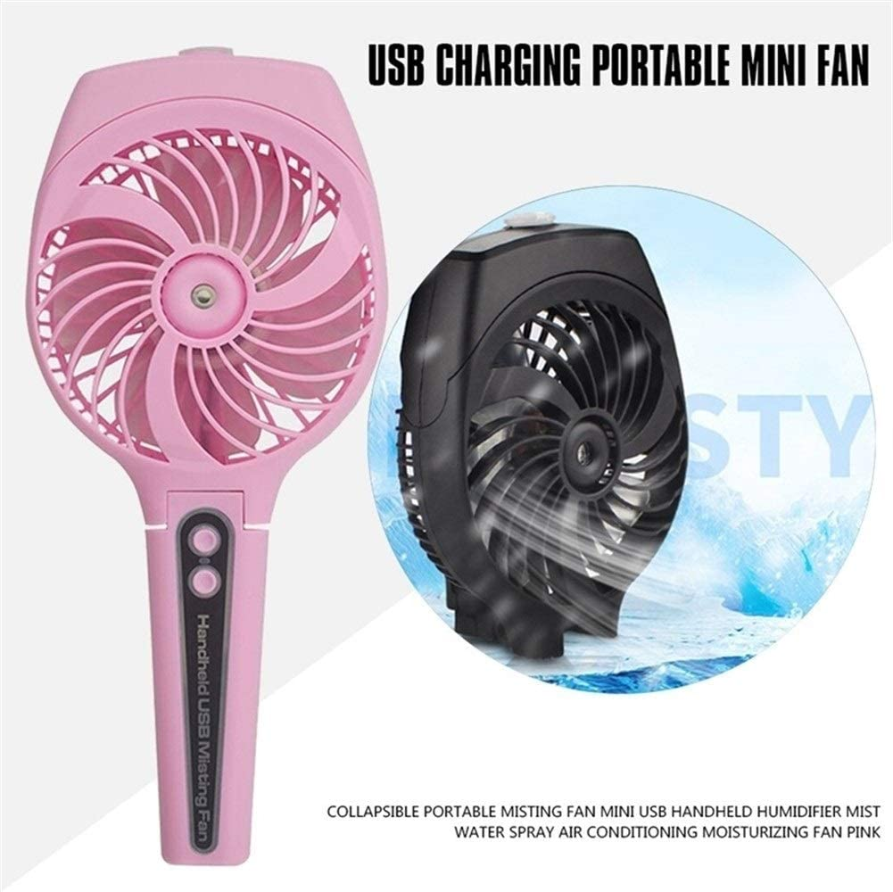 Outdoor Travel Office Shengjuanfeng USB Fans Collapsible Portable Fan Mini USB Handheld Summer Air Cooling Fan for Home Color : Pink