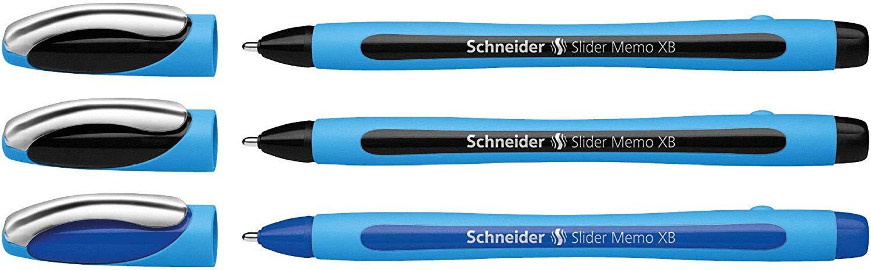 mit Kappe, Strichst/ärke: XB, Made in Germany Schneider Slider Memo XB Kugelschreiber Pink, 3er