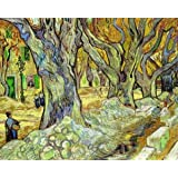 Oil Painting 'Vincent Van Gogh-The Large Plane Trees,1889', 8 x 10 inch / 20 x 25 cm , on High Definition HD canvas...