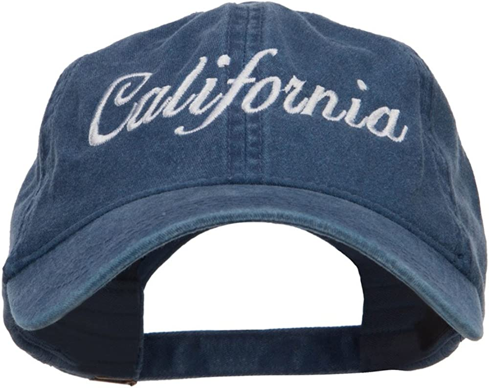 e4Hats.com California Embroidered Washed Cap