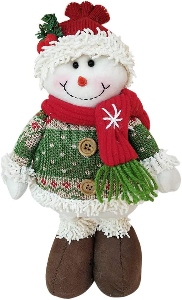 Cute Santa Claus Snowman Reindeer Standing Doll Christmas Tree Toy Hanging Decorations for Xmas New Year Gift Holiday Party Decor Shan-S Christmas Plush Toy Ornaments Gift