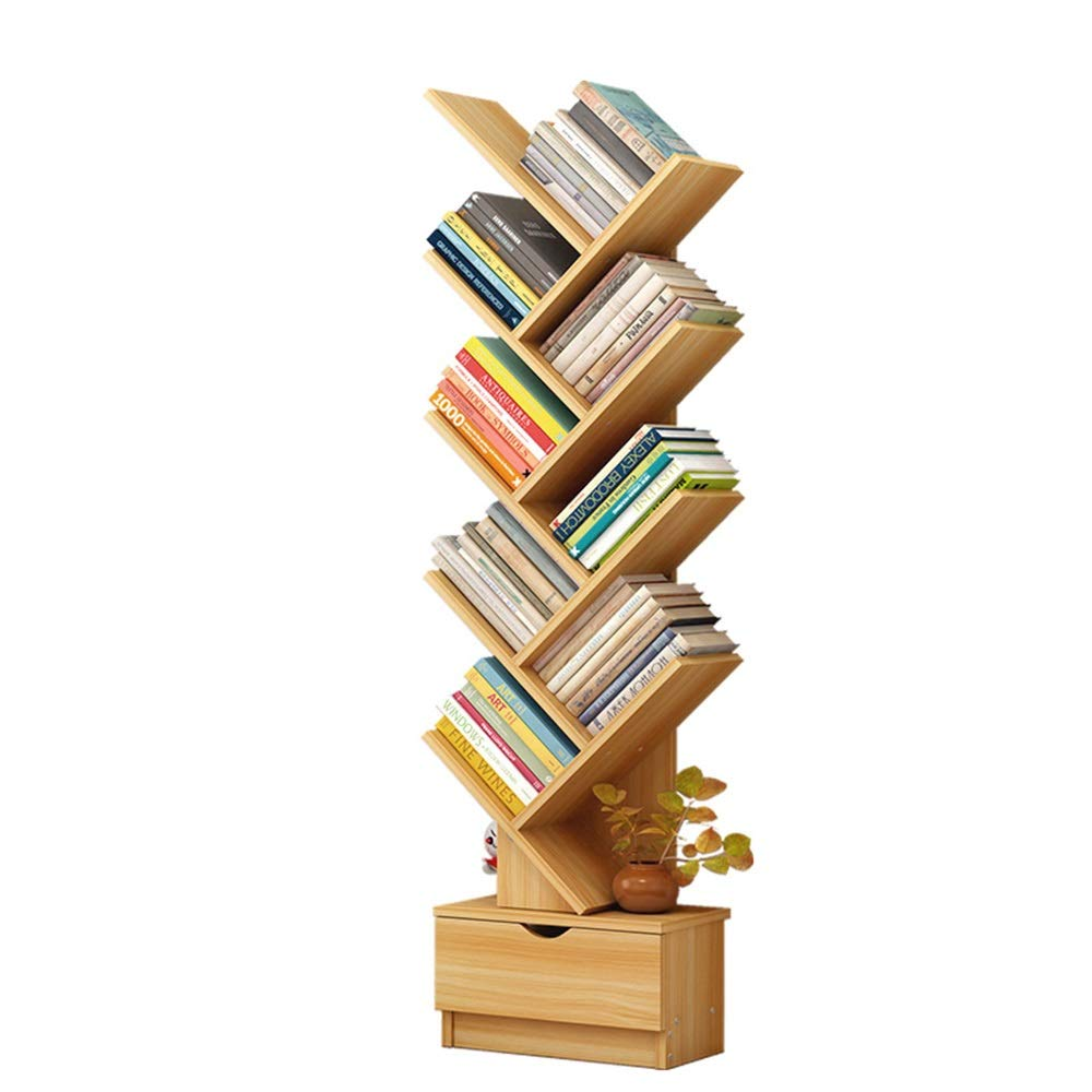 Axdwfd 本棚、竹本棚棚ディスプレイラック収納キャビネット棚棚棚棚本棚、CD、映画、本棚37 * 18 * 148 cm (色 : Walnut A)  Walnut A B07Q4CZQ88