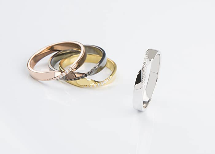 Amazoncom Mobius wedding bandDiamond wedding bandMobius ring