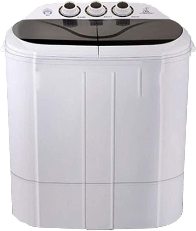 Lavadora portátil Lavadora de camping, lavadora portátil, lavadora de bañera doble 6 kg Lavadora de capacidad total y secadora de espinillas for campamentos Dorms Apartments College Rooms 2.5 kg Lavad