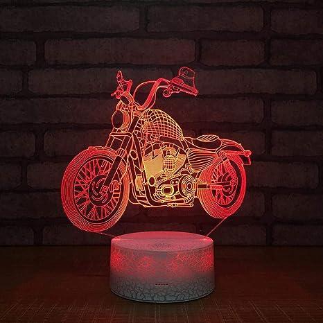 Camere Da Letto Halley.Wallfia Auto Halley 3d Illusione Lampada Luce Luce Notturna A Led