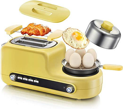 Amazon.com: Honoen 5 in 1 Breakfast Station Center - Dual Breakfast Sandwich Maker, 2 Slice Toaster -Durable for Rolls, Bagels, English Muffins, Croissants and More: Home & Kitchen