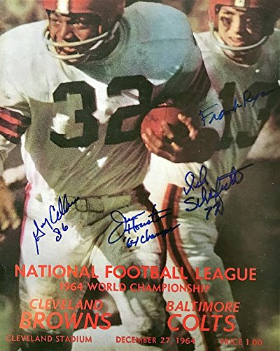 1964 NFL World Championship Program Autographed Cleveland Browns11x14 Photograph - Certified Authentic Ohio Sports Group