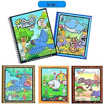 Amazon.com: 7TECH Magic Water Coloring Book Drawing Painting ...
