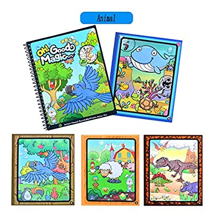 Amazon.com: Tango Animal Paint With Water Books for toddlers kids ...