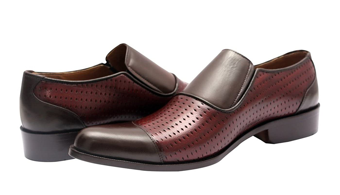Belgian Formal Perforated Slip-On Leather Men Shoes