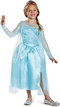 Disney's Frozen Elsa Snow Queen Gown Classic Girls Costume
