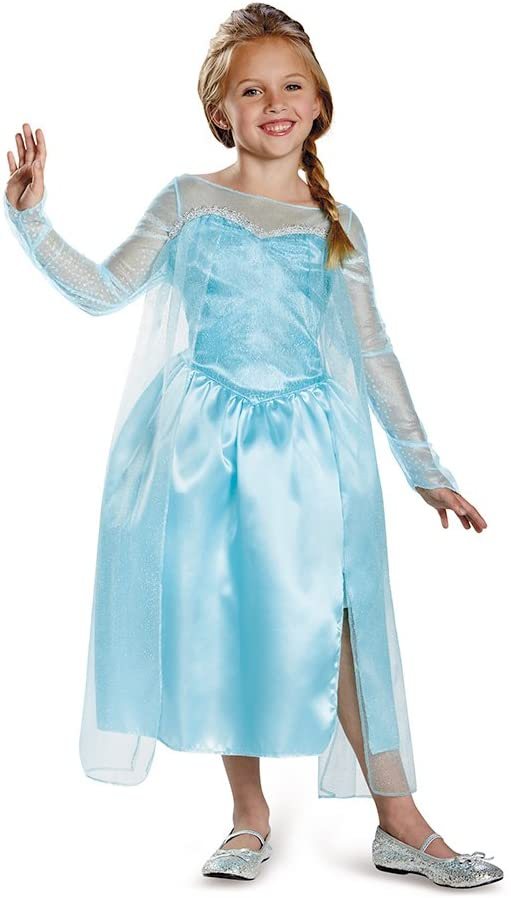 Frozen Elsa Princess Queen Children Kids Girl Gloves Cartoon Costume Party Dress