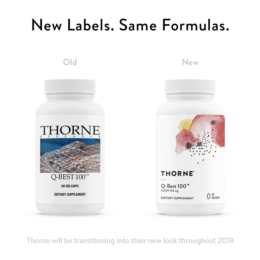 Thorne Research - Q-Best 100 - Patented Crystal-Free CoQ10 Supplement for Heart Health and Cellular Energy Production - 60 Gelcaps by Thorne Research (Image #3)