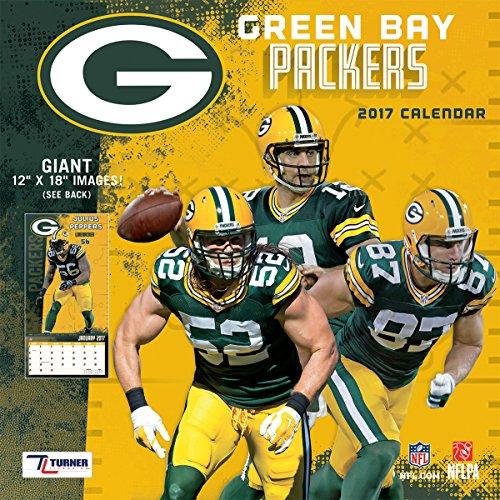 Turner Licensing Sport 2017 Green Bay Packers Team Wall Calendar, 12