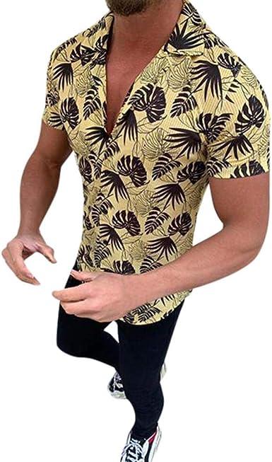 Camisas Hawaianas Hombre Manga Corta 2020 SHOBDW Playa de ...
