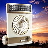 Toogoo Multi-function Portable Fan Home LED Table Lamp Outdoor Solar Flashlight golden