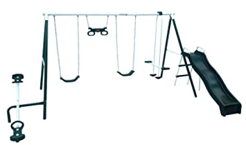 Bon Flexible Flyer Backyard Fun Swing Set With Plays