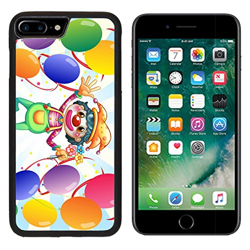 [MSD Premium Apple iPhone 7 Plus Aluminum Backplate Bumper Snap Case iPhone7 Plus IMAGE ID 19301628 Illustration of a clown in the middle of the balloons with flowers on a white] (Amusement Clown Costume)