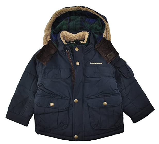 Amazon.com: London Fog Little Boys' Heavyweight Parka Outerwear ...