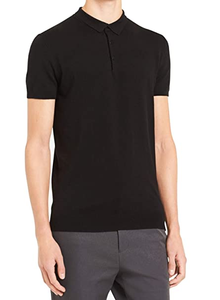Calvin Klein Polo de manga corta con textura para hombre - Negro ...