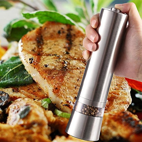 (Mills - Electric Salt Pepper Grinder Stainless Steel Mill Spice Sauce Grinding - Almond Chocolate Brothers Liberty Farm Kitchen County 500ml Card Jersey)