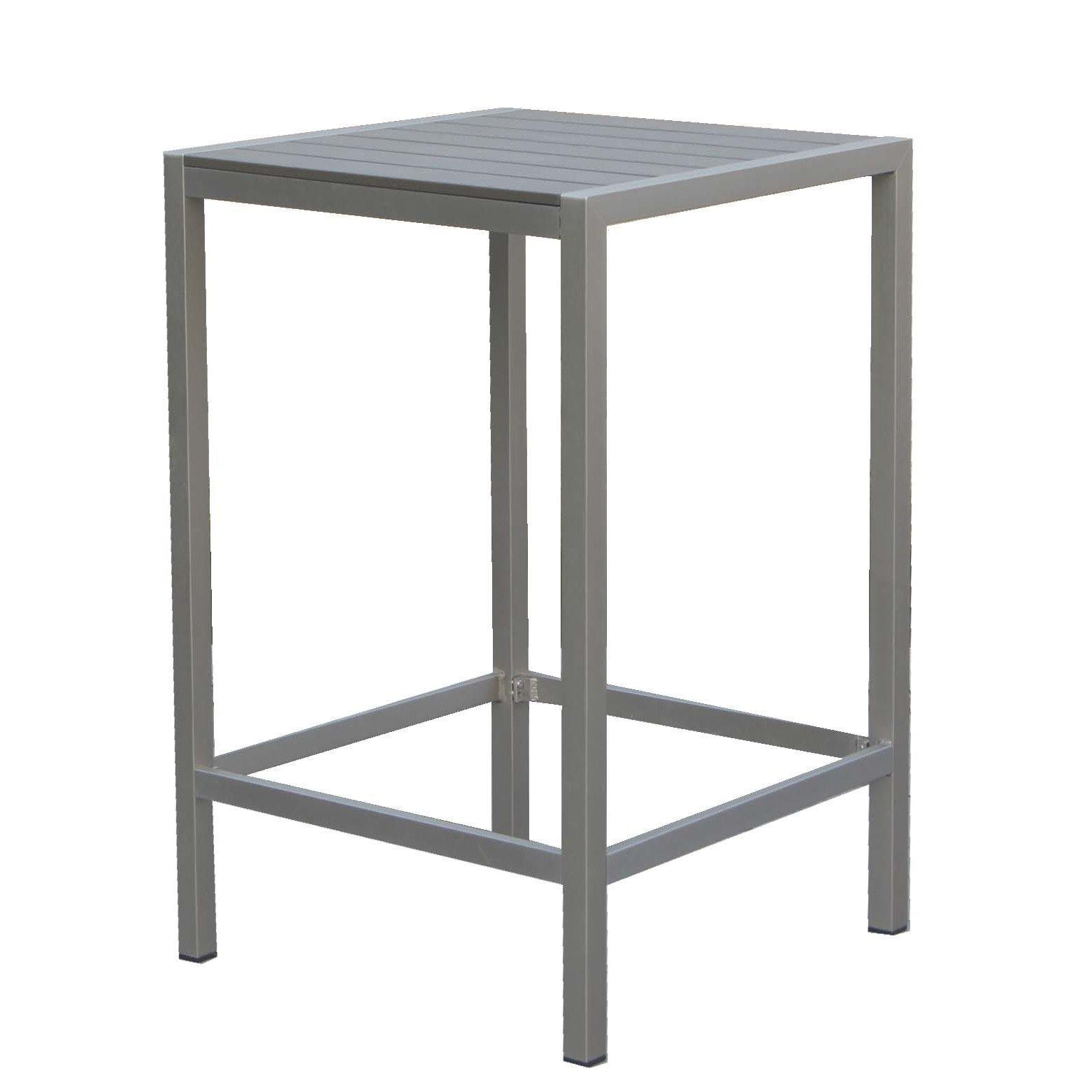Pangea Home 28'' Betty Bar Table, Gray