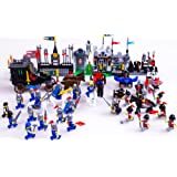 704pcs Castle knights set Lion and hawk soldier Army Building Block Set 3d Construction Brick Toys Educational Block Toy Without original box