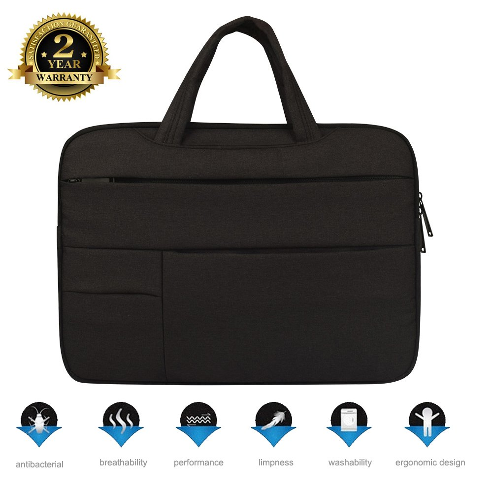 13.3 Inch Notebook Handbag Laptop Case Protective Bag for MacBook Pro/Pro Retina,Ultrabook Lenovo Dell Toshiba HP Chromebook ASUS Acer,with 1 pcs Keyboard Protective Film and 2 pcs Cable Ties