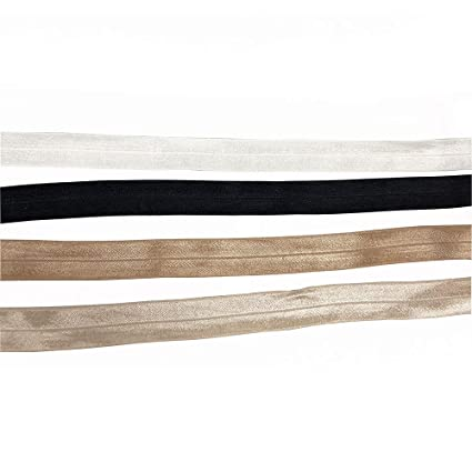 1/'/' hair tie making foe band fold over elastic ribbon binding tape webbing 25mm