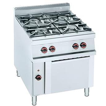 Macfrin H4E Cocina a Gas de 4 Fuegos y Horno 41.5 Kw