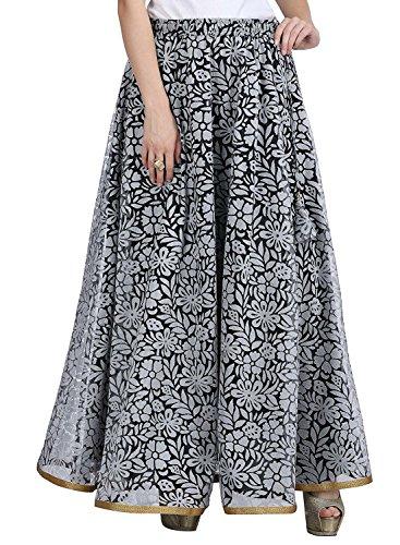 Women's Net Double Layer Long Skirt (SKT1405_White_Freesize)