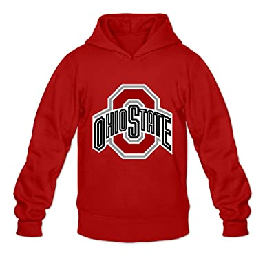 Amazon.com  Ohio State Buckeyes VAVD Men s 100% Cotton Hoodies Red ... 00a1cf6f4