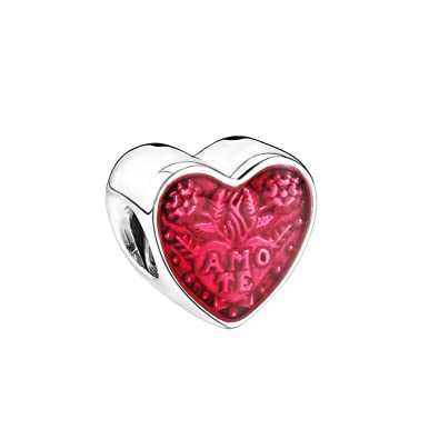 bb7465de524a Amazon.com  PANDORA Latin Love Heart Charm - 792048EN117  Jewelry