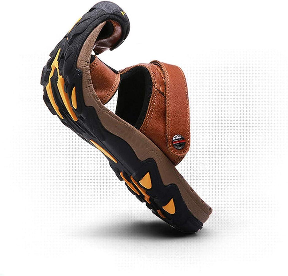 US Men Mens Leather Sandals Comfortable Soles Breathable Button Closure M Bronze,Lable 39//6.5 D