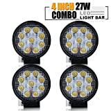 TURBO SII 4PCS 4 Inch Led Work Light Bar 27w 2200LM Driving Pods Flood Beam Work Lamp For Off-Road Suv Boat 4X4 Jeep JK 4Wd Truck 12V-24V